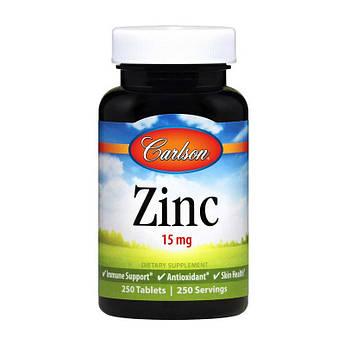 Цинк Carlson Labs Zinc 15 mg (250 tab) карлсон лабс