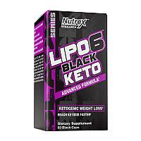 Жиросжигатель Nutrex Lipo 6 Black Keto advanced formula (60 black-caps) нутрекс липо 6
