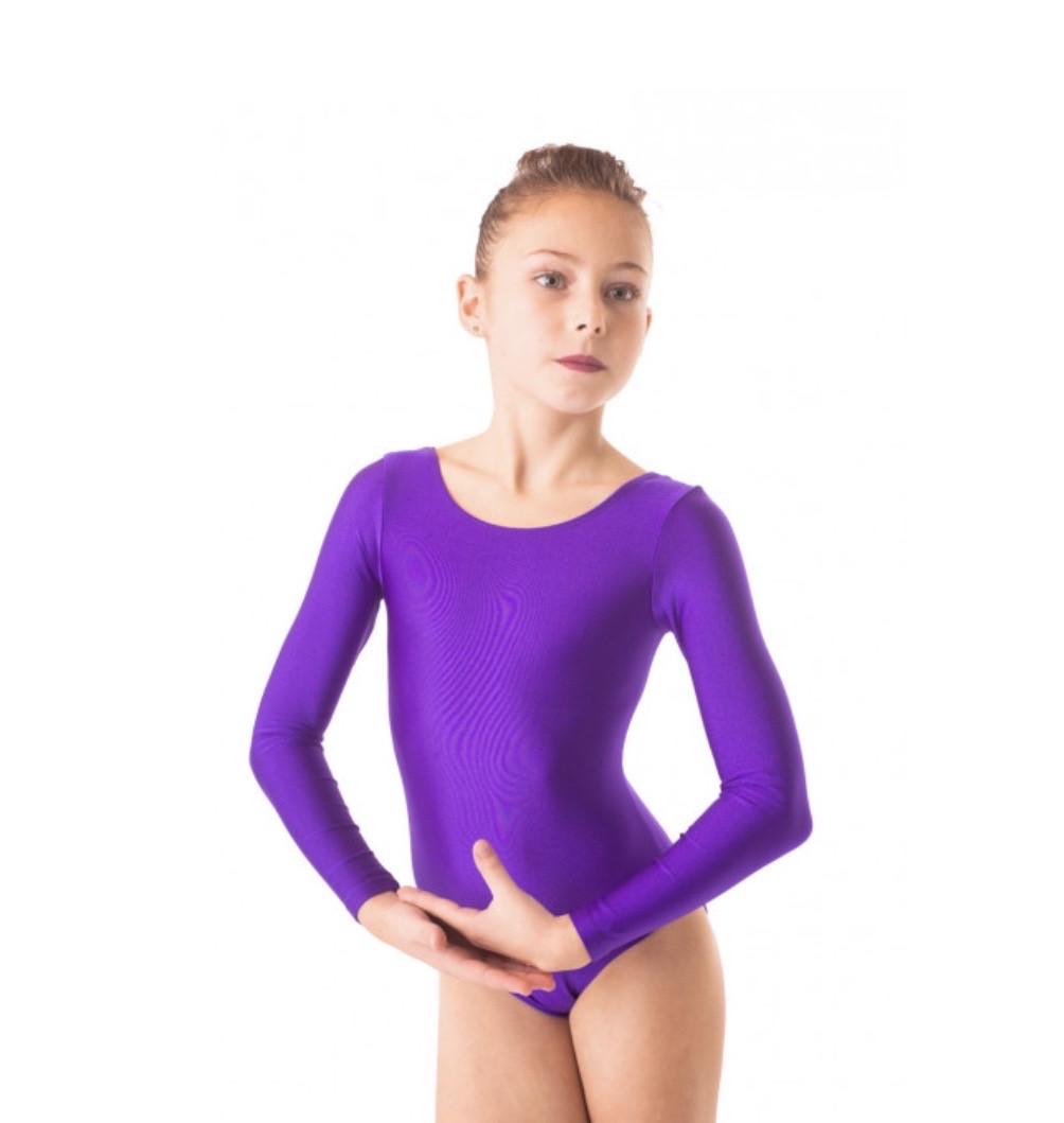 Боди купальник трико  гимнастический   , для балета фиолетовый