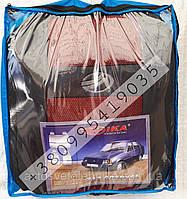 Автомобильные чехлы ЗАЗ Славута COPER Nika Авточехлы на сидения ZAZ Slavuta красный модельный комплект
