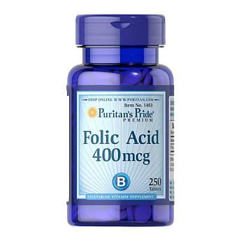 Фолієва кислота Puritan's Pride Folic Acid 400 mcg (250 таб) пурітанс прайд