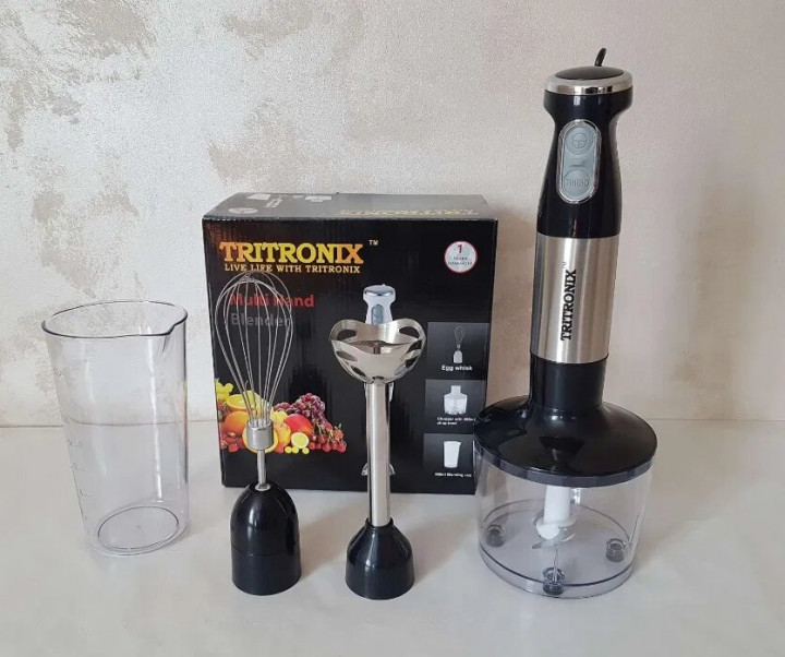 Блендер ручной погружной Tritronix  кухонный многофункциональный