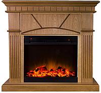 Электрокамин с порталом в современном стиле из МДФ Fireplace Панама эффектом сгорания дров и пламени