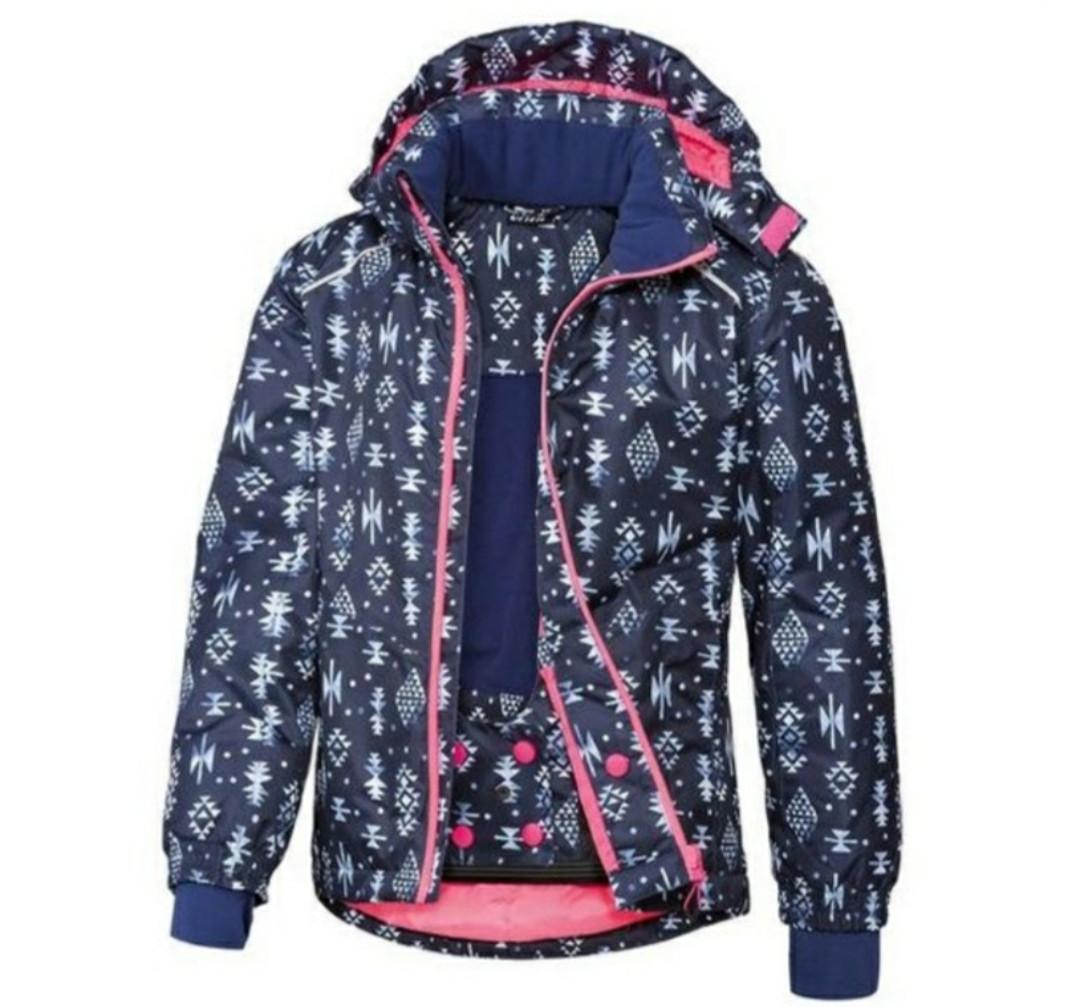 Лыжная термокуртка для девочки синяя  Crivit (Германия) р. 146/152см