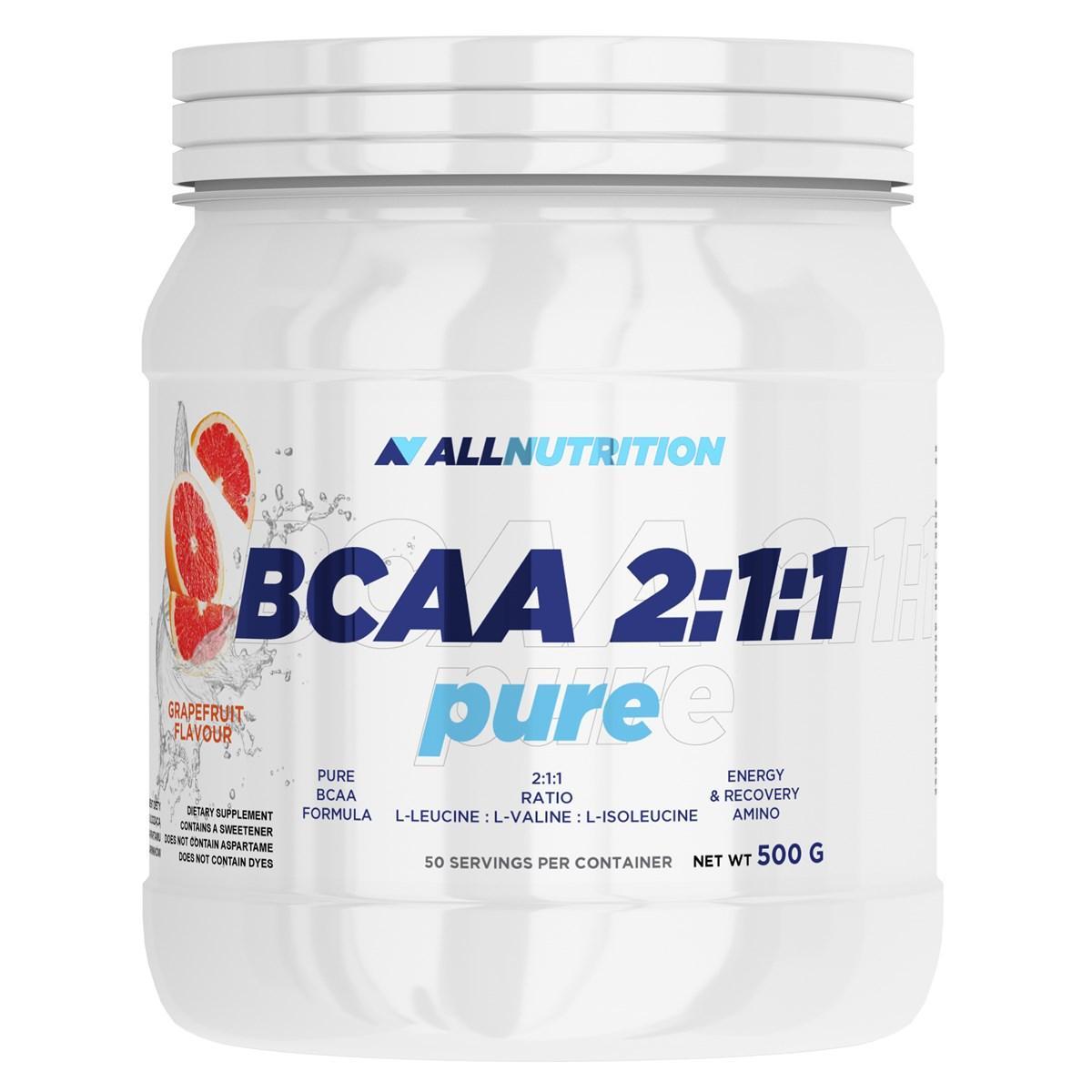 БЦАА AllNutrition BCAA Pure 2-1-1 (500г) алл нутришн Lemon