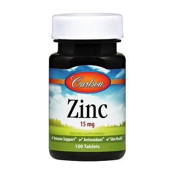Цинк Carlson Labs Zinc 15 mg (100 табл) карлсон лабс