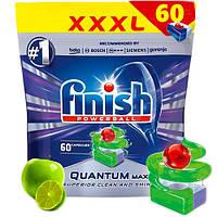 Таблетки для посудомоечных машин класик Finish Quantum лайм и яблоко 60 шт