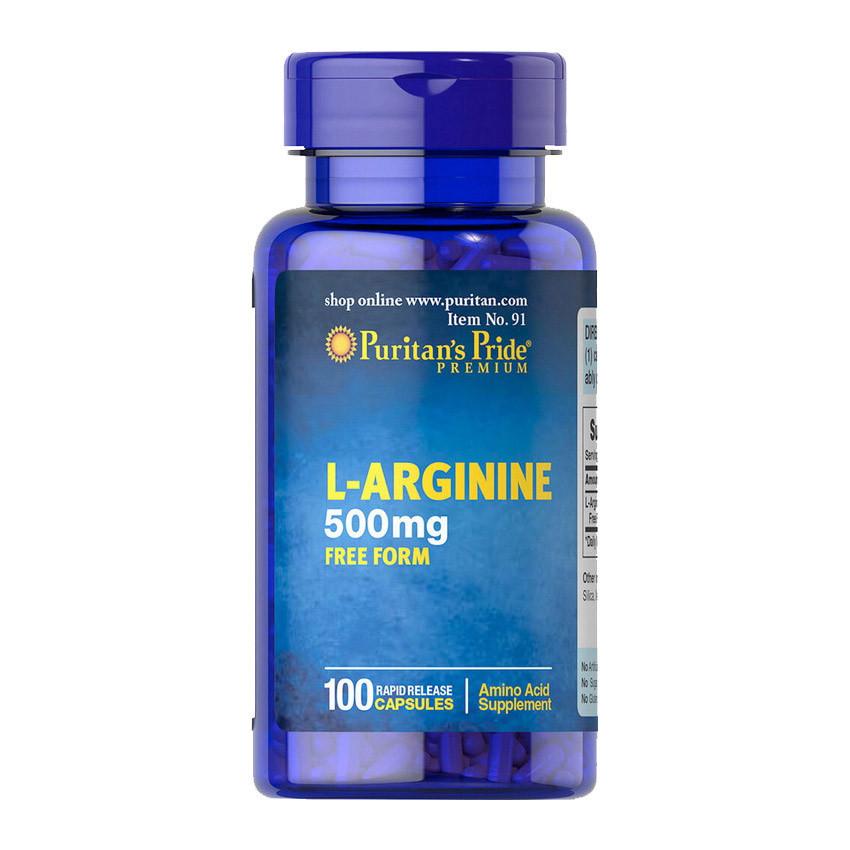Л-Аргинин Puritan's Pride L-Arginine 500 mg (100 капсул) пуританс прайд