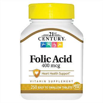 Фолієва кислота 21st Century Folic Acid (250 табл) 21 століття центурі