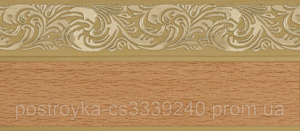 Лента декоративная на карниз, бленда Ажур 4 Бук 70 мм на усиленный потолочный карниз КСМ