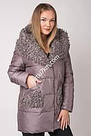 Зимняя куртка с мехом козлика  Snow beauty 20120, фото 1
