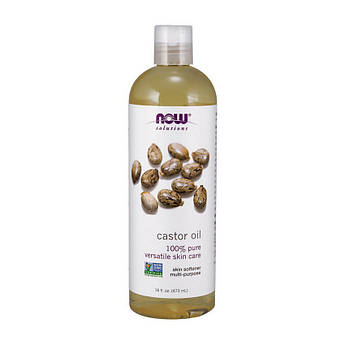 Касторовое масло Now Foods Castor Oil (473 ml)  нау фудс pure