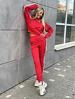 Тёплый костюм с укороченной мастеркой. 5 цветов. Турецкая трехнитка на флисе.Размеры 42/44 , 44/46 , 46/48., фото 1