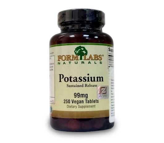 Калий Form Labs Potassium Sustained Release 99 mg 250 tab