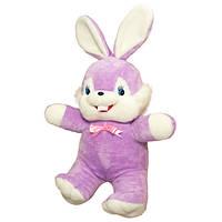 Мягкая игрушка Золушка Заяц Сеня маленький 60 см Сиреневый 040-2, КОД: 1463618