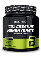 Креатин моногидрат BioTech 100% Creatine Monohydrate банка (500 г) биотеч unflavored