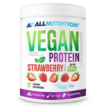 Растительный протеин AllNutrition Vegan Protein (500 г) алл нутришн Strawberry