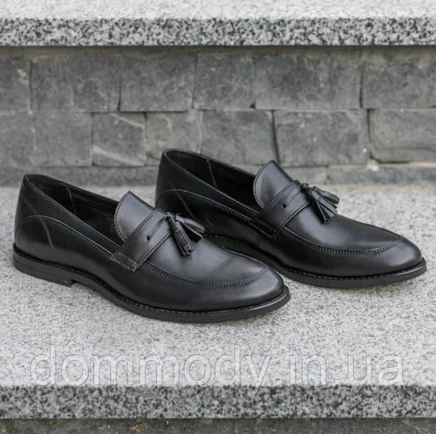Туфлі-лофери чоловічі чорні зі шкіри