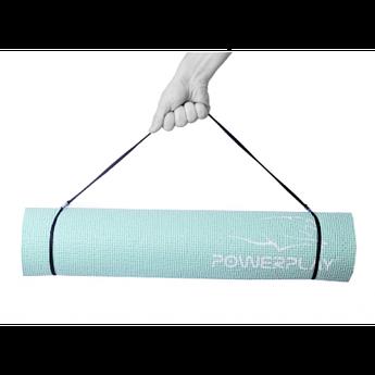Килимок для фітнесу і йоги 4010 (183*61*0.6) - М'ятний
