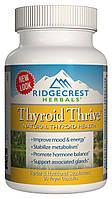 Комплекс для Поддержки Щитовидной Железы, Thyroid Thrive, RidgeCrest Herbals, 60 гелевых капсул