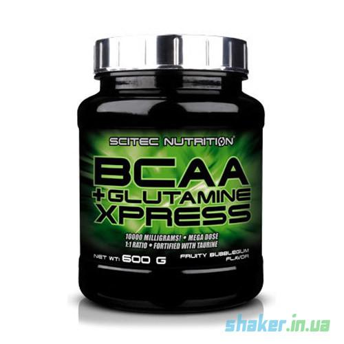 БЦАА Scitec Nutrition BCAA + Glutamine Xpress (600 г) скайтек экспресс с глютамином apple
