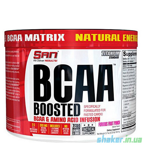БЦАА SAN BCAA Boosted (104 г) сан  furious fruit punch
