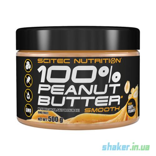 Натуральная арахисовая паста Scitec Nutrition Peanut butter (500 г) скайтек нутришн smooth