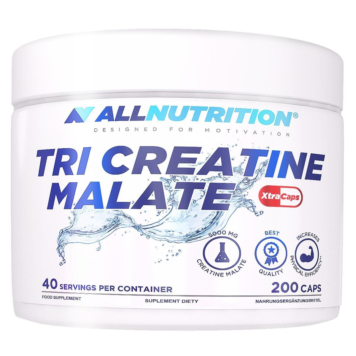 Три креатин малат AllNutrition Tri Creatine Malate Xtraxaps (200 капс) аллнутришн