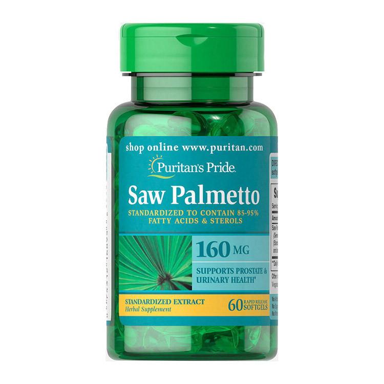 Со пальметто Puritan's Pride Saw Palmetto 160 mg (60 капс) пуританс прайд