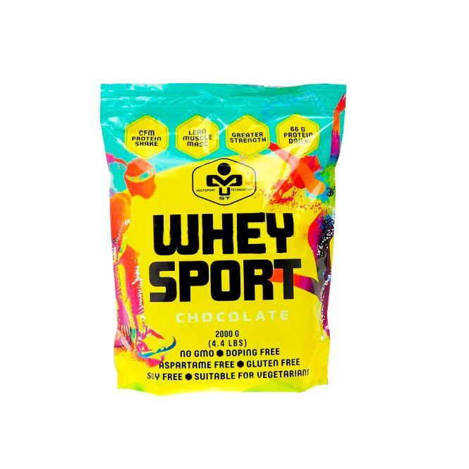 Сывороточный протеин концентрат MUST Whey Sport (2 кг) маст вей спорт strawberry