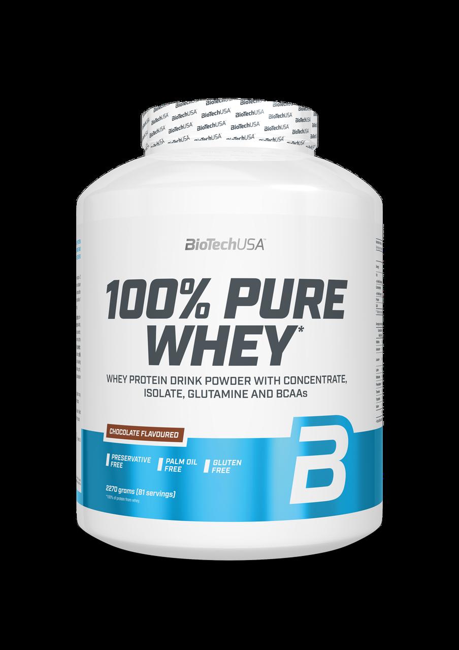 Сывороточный протеин концентрат BioTech 100% Pure Whey (2270 г) биотеч пур вей hazelnut