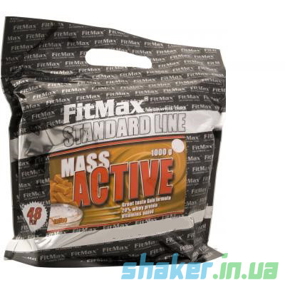 Гейнер для набора массы FitMax Mass Active (1 кг) фитмакс масс актив white chocolate