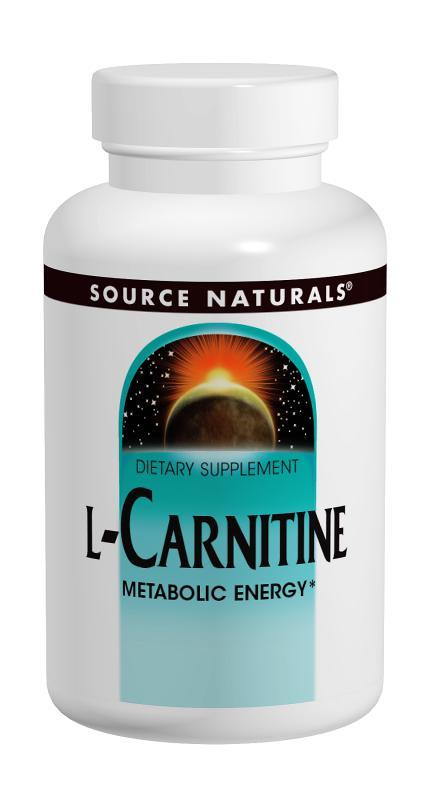 Л-карнитин Фумарат 250 мг, Source Naturals, 120 капсул