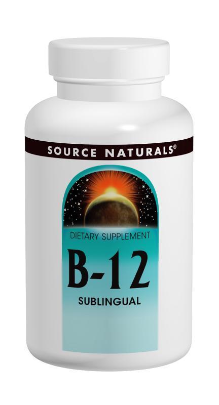 Витамин В-12 2000мкг, Source Naturals, 200 таблеток для рассасывания
