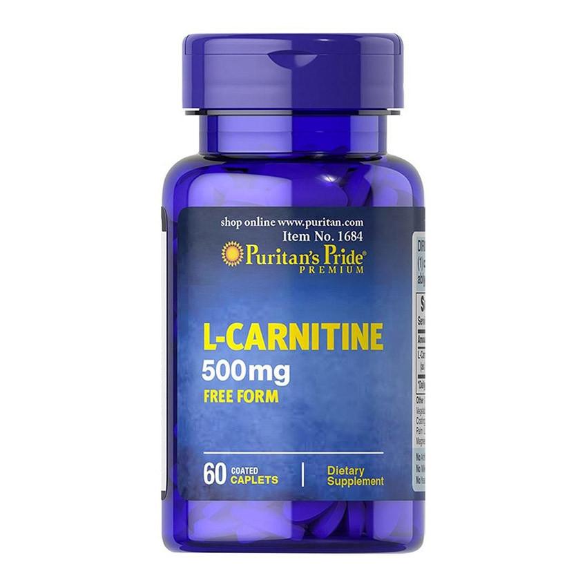 Л-карнитин Puritan's Pride L-Carnitine 500 mg (60 таб) пуританс прайд