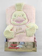 Дитячий плед ковдру Туреччина для новонародженого махра подарунок новонародженому рожеве (НДП11)