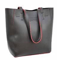 Женская сумка стильная брендовая Lucherino 518 ЧЕРНАЯ ЧН высокого качества (LRHN)