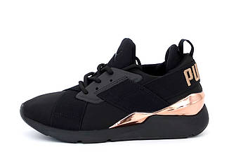 Женские кроссовки Puма Muse 2 Satin Strap (черные) 12411