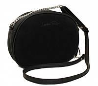 Натуральная замшевая женская сумка Lucherino 527 ЧЕРНЫЙ (LRHN)