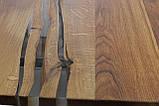 Стол - слэб   дикий край дуб залит эпоксидной смолой  2400х1000х40 с комплектом ножек -  х дуб в наличии, фото 5