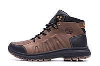 Мужские зимние кожаные ботинки Timberland Brown leather  р. 40 41 44 45, фото 1