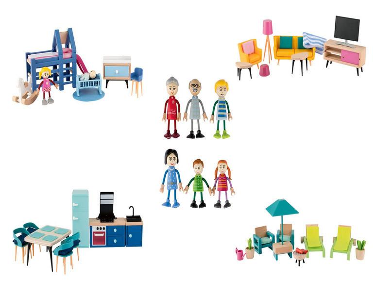 Набір дерев'яних меблів та ляльок PLAYTIVE® Німеччина
