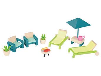 Набор садовой мебели PLAYTIVE® для кукольного дома Германия
