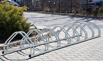 Велопарковка на 8 велосипедов Echo-8 inox нержавеющая сталь Польша