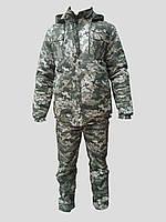 """Зимовий Камуфляжний костюм """"Піксель"""" світлий"""