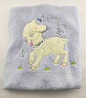 Дитячий плед ковдру Туреччина для новонародженого махра подарунок новонародженому блакитне (НДП19)