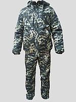 """Зимовий Камуфляжний костюм """"Піксель"""" зелений"""