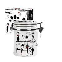 Емкость для сыпучих продуктов 0.5 л Черная кошка Snt 630-12