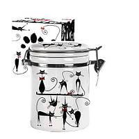 Емкость для сыпучих продуктов 0.75 л Черная кошка Snt 629-12