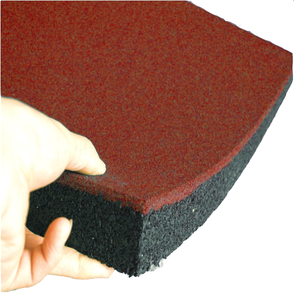 Гумова плитка 500х500х40 мм (червона) PuzzleGym